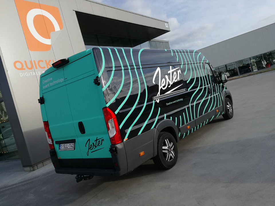 Belettering camionette | Bestickering camionette | Reclame camionette